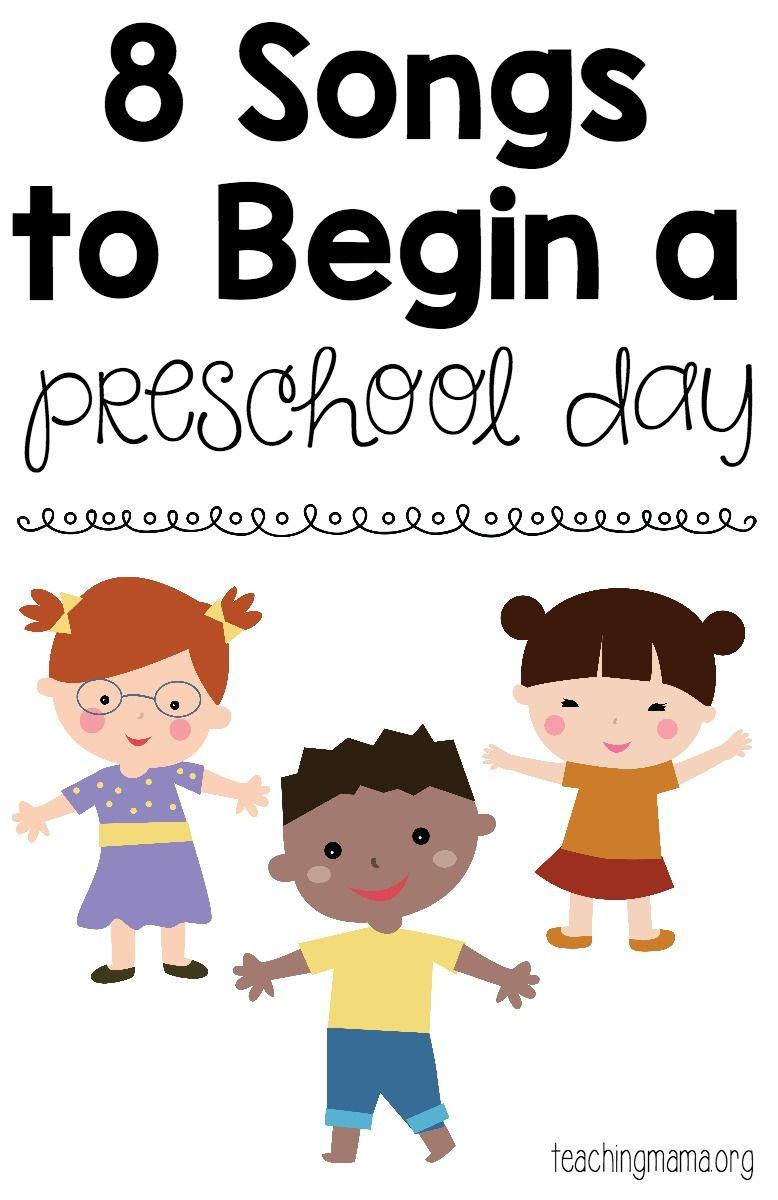 8 Songs To Begin A Preschool Day - Free Printable Song Posters! A - Free Printable Preschool Posters