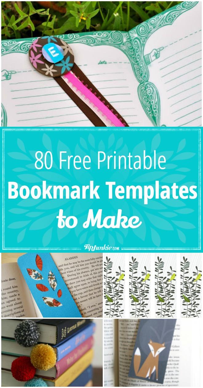 80 Free Amazing Bookmarks To Make {Free Printables} – Tip Junkie - Free Printable Blank Bookmarks