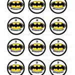 9 Batman Cupcakes Printables Photo   Free Printable Batman Cupcake   Batman Cupcake Toppers Free Printable
