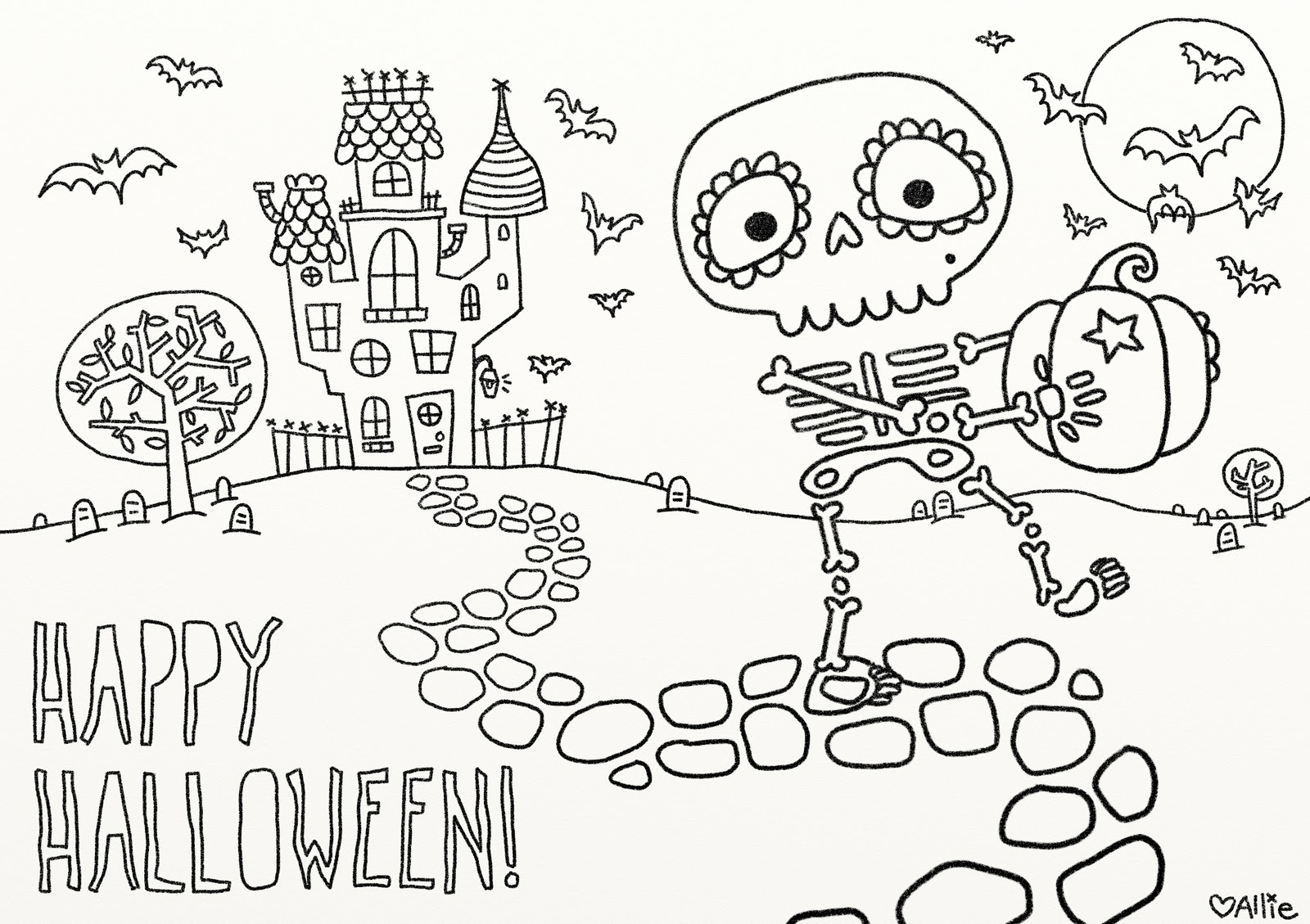 9 Fun Free Printable Halloween Coloring Pages - Free Printable Halloween Coloring Pages