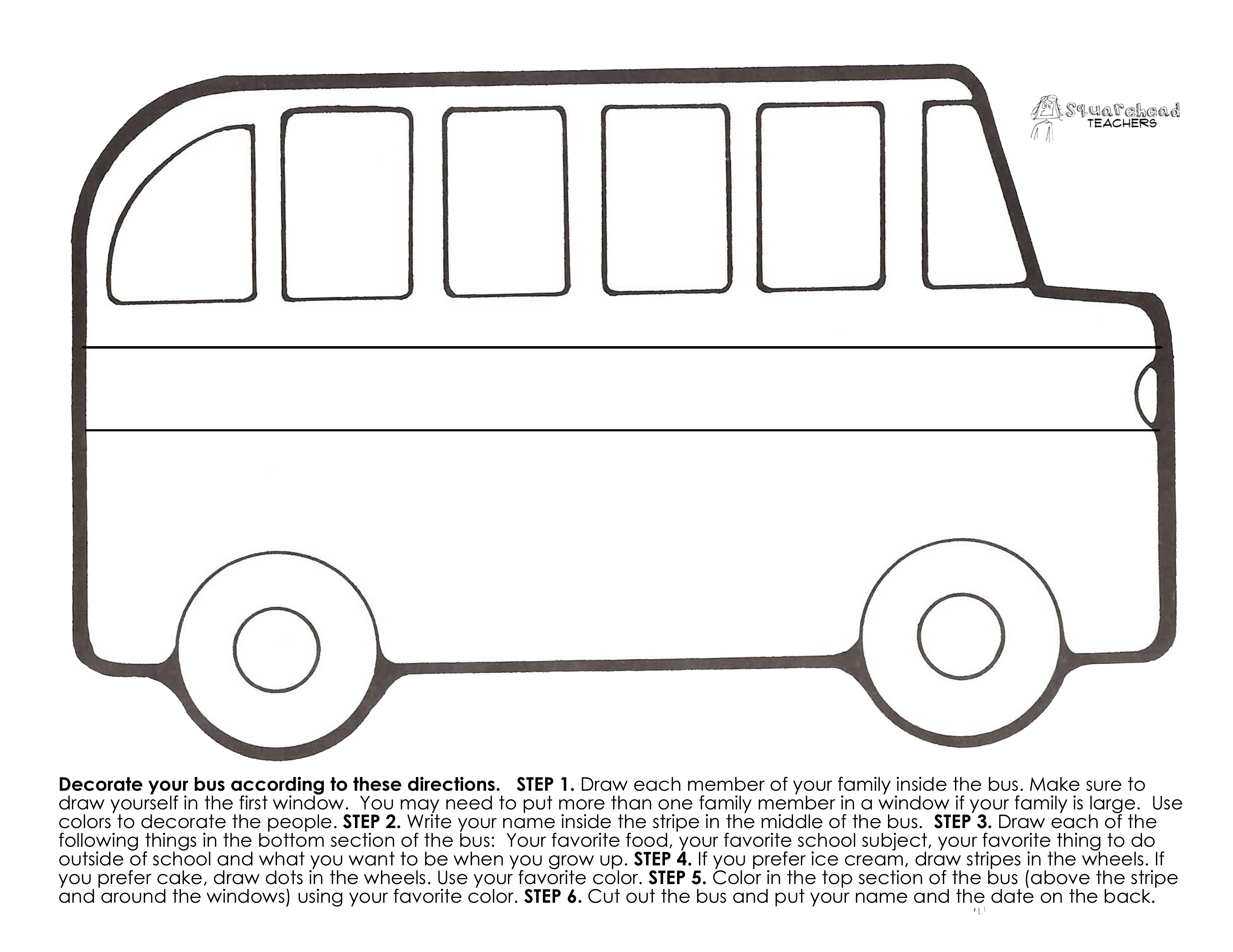 99+ Free Printable School Bus Craft Template A Teaching Tips School - Free Printable School Bus Template