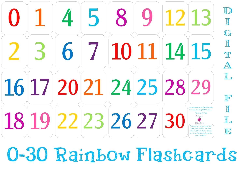99+ Printable Numbers 1 30 Printable Numbers 1 30 Flashcards. Number - Free Printable Number Flashcards 1 30
