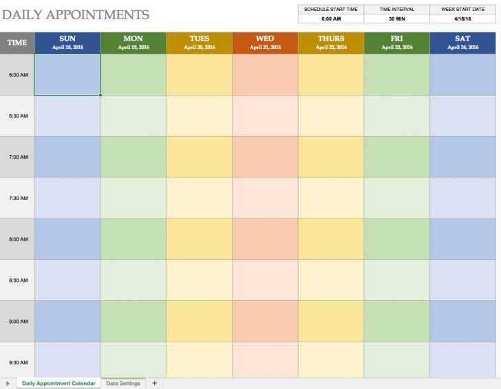Free Printable Weekly Appointment Sheets