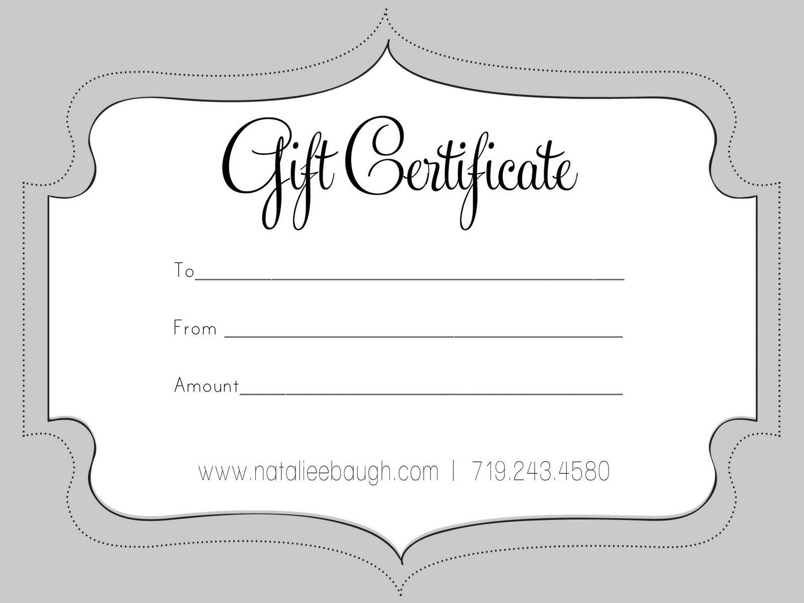 A Cute Looking Gift Certificate | S P A | Pinterest | Free Gift - Free Printable Gift Certificates For Hair Salon