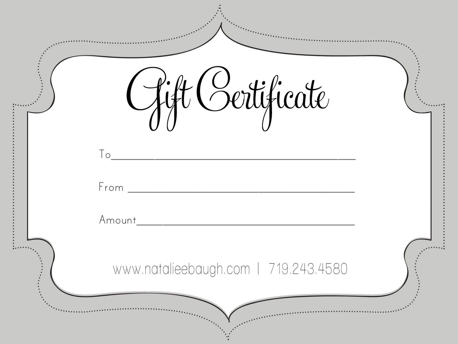 A Cute Looking Gift Certificate   S P A   Pinterest   Free Gift - Free Printable Photography Gift Certificate Template