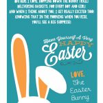 A Letter From The Easter Bunny :: Printable Easter Bunny Poem – Free Printable Poetry Posters