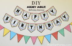 A Mickey And Minnie Mouse Party – Free Printable Happy Birthday – Free Printable Minnie Mouse Birthday Banner