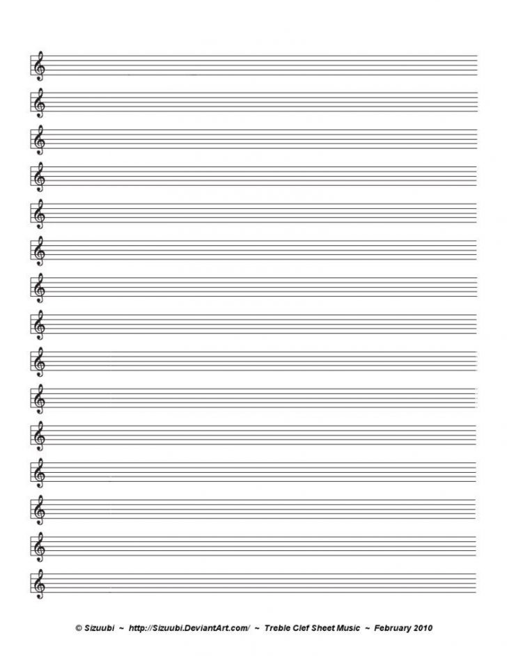 Free Printable Music Staff