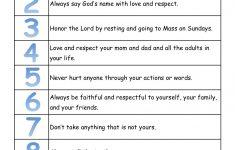 A True Catholic Version Of The Ten Commandments, For Kids | The Bible - Free Catholic Ten Commandments Printable