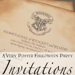 A Very Potter Halloween Party: Invitations | Diy Projects I Might   Harry Potter Birthday Invitations Free Printable