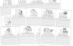 Aa-Zz Alphabet Letter Mini Color Book Practice Printable - Free Thanksgiving Mini Book Printable