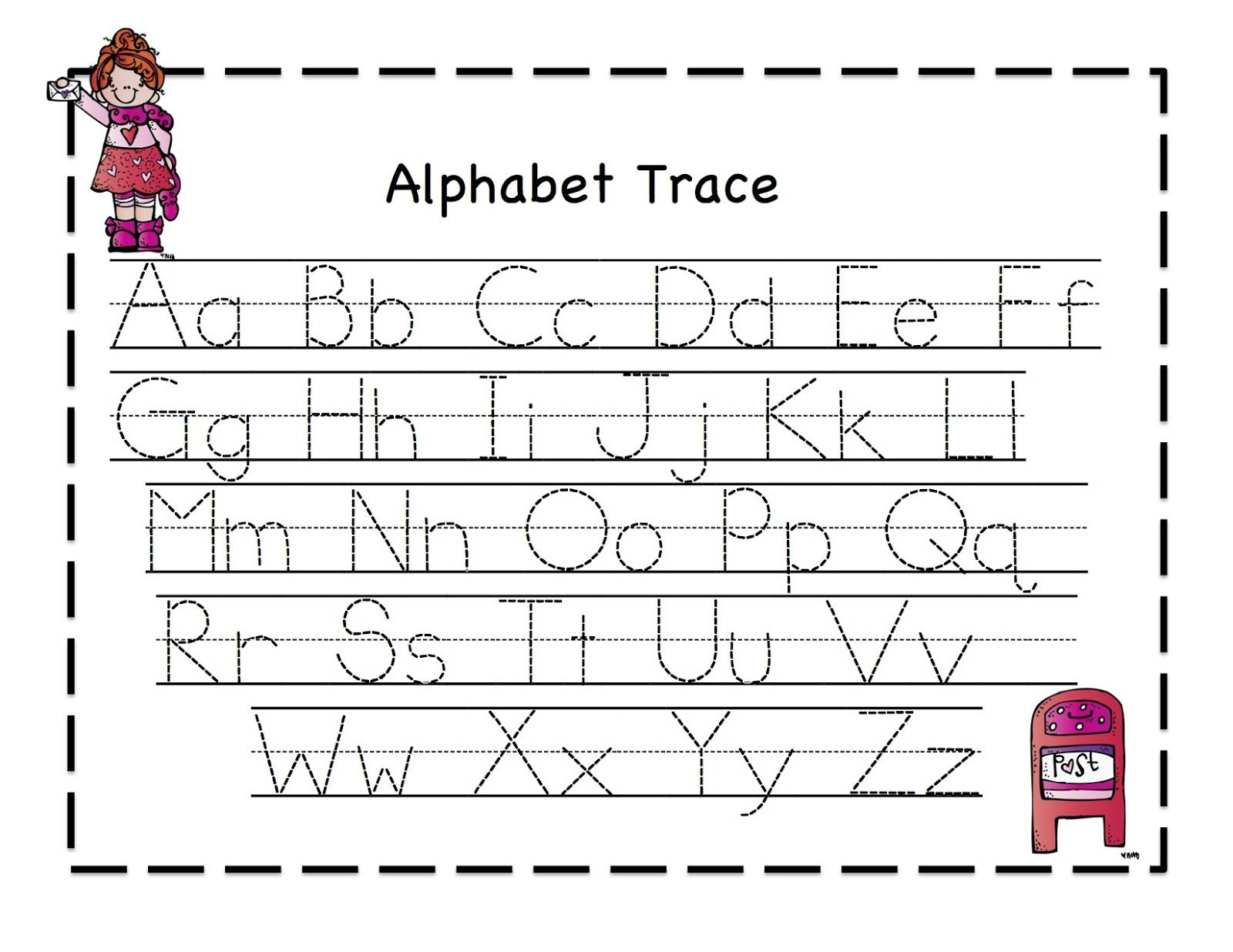 Abc Tracing Sheets For Preschool Kids | Kiddo Shelter | Alphabet And - Free Printable Preschool Worksheets Tracing Letters