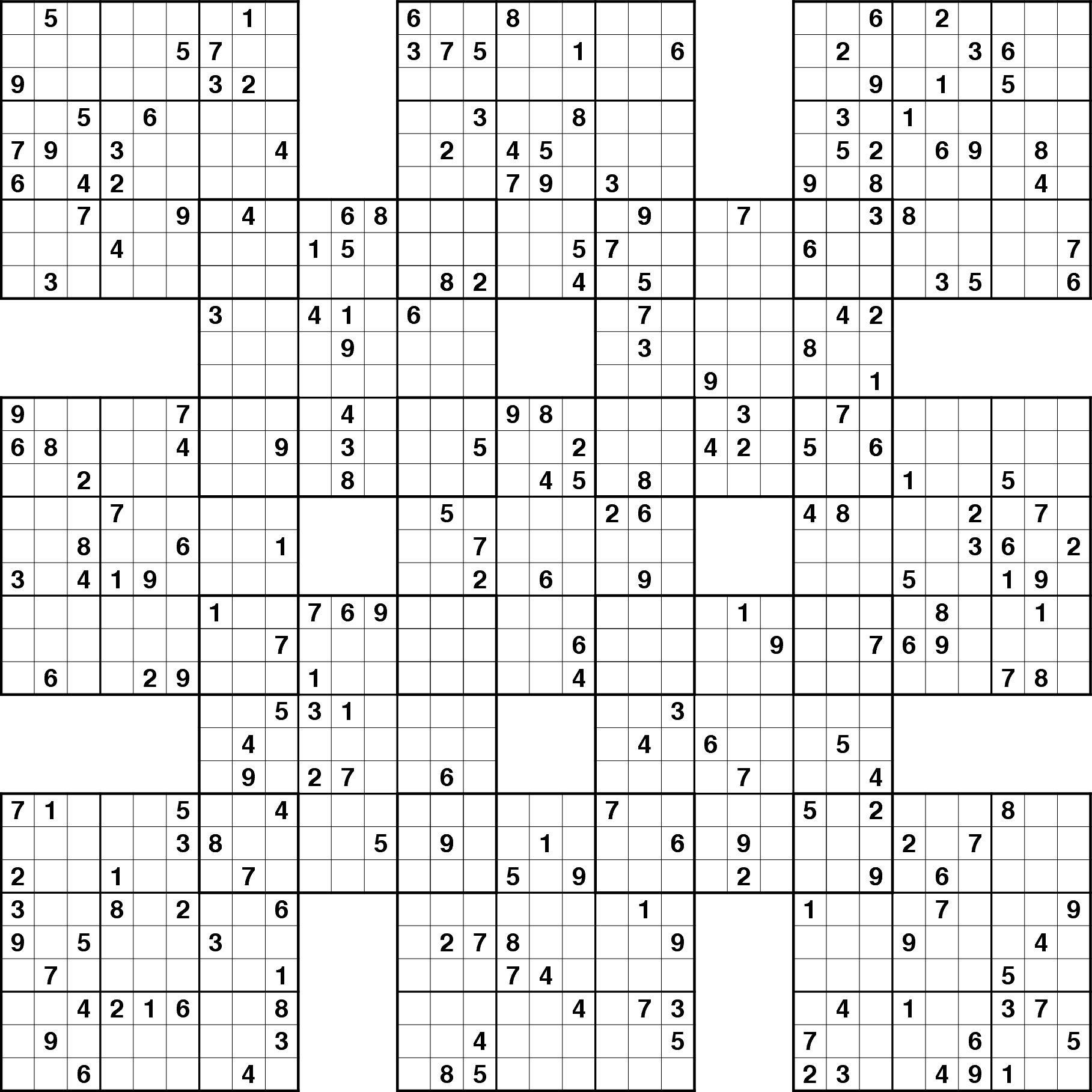 About Sudoku Different Flavours Sudoku Garden. Printable Sudoku - Sudoku 16X16 Printable Free