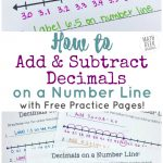 Add & Subtract Decimals On A Number Line {Free Printable Number Lines!}   Free Printable Number Line For Kids