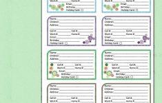 Free Printable Address Book