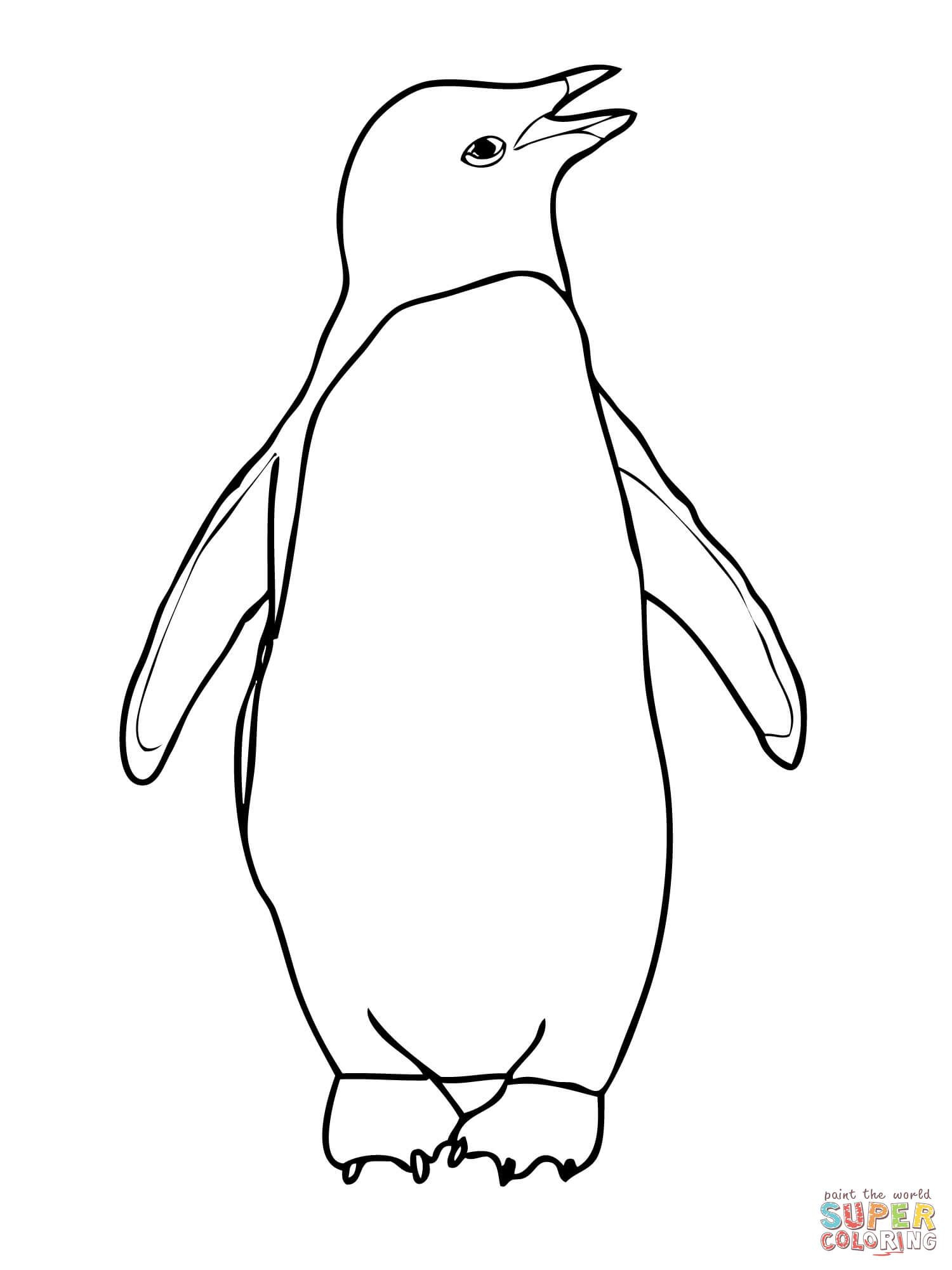 Adelie Penguin Coloring Page | Free Printable Coloring Pages - Free Printable Penguin Books