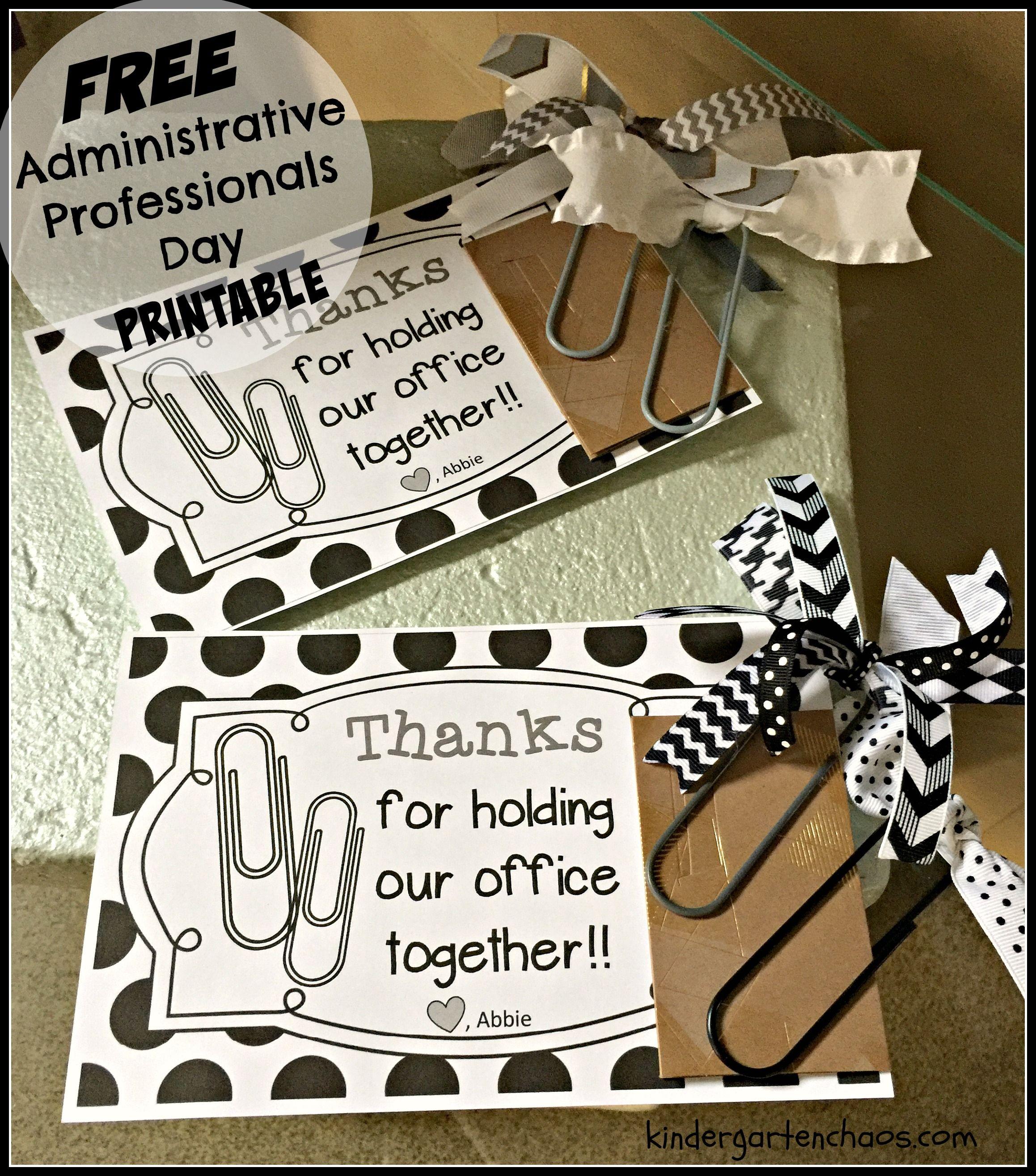 Administrative Professionals Day | Appreciation Gift Ideas - Administrative Professionals Cards Printable Free