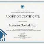 Adoption Certificate New Christening Certificate Template Choice   Free Printable Adoption Certificate