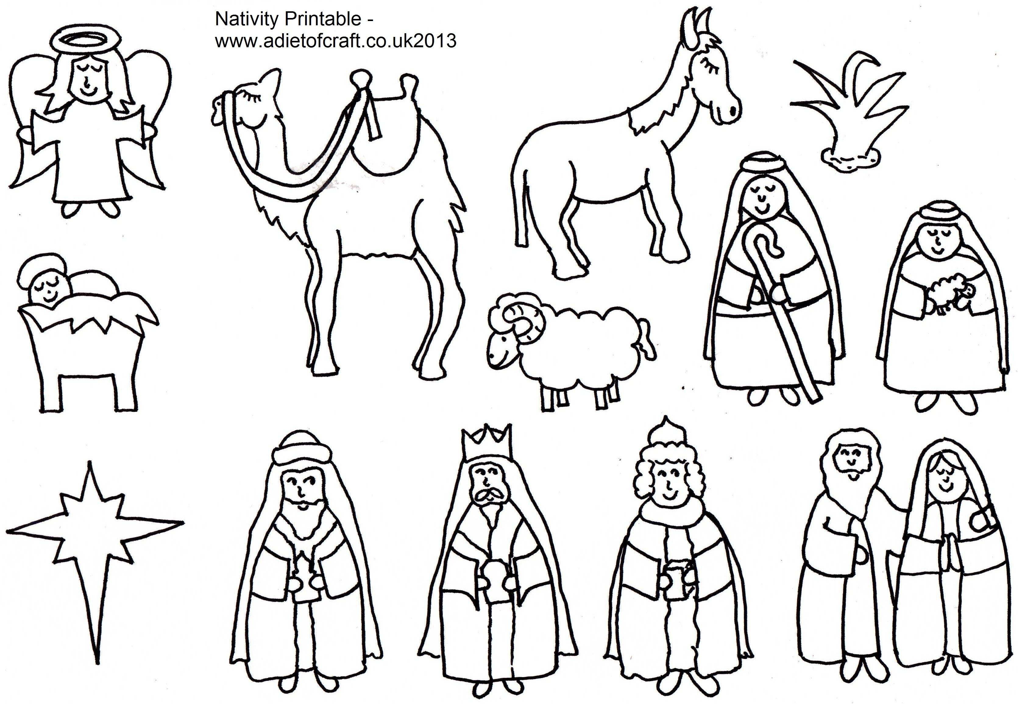 Adult Coloring Pages Of The Nativity Free In Nativity Coloring Pages - Free Printable Christmas Story Coloring Pages