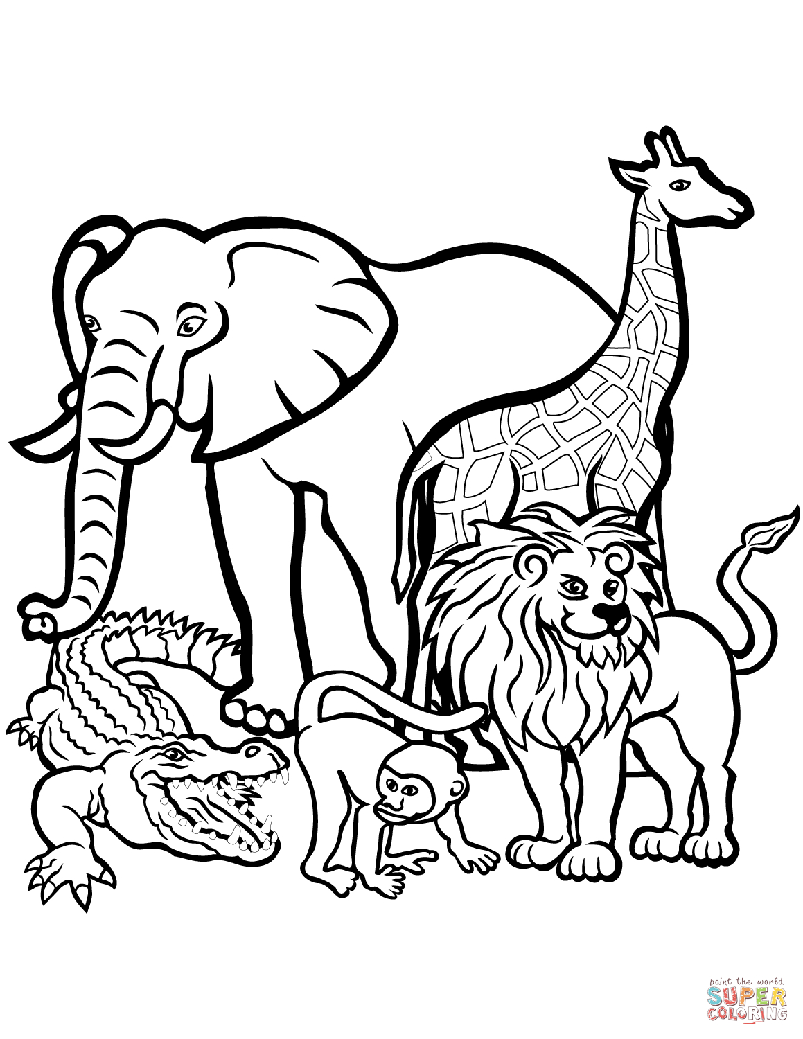 African Animals Coloring Page | Free Printable Coloring Pages - Free Printable Animal Coloring Pages