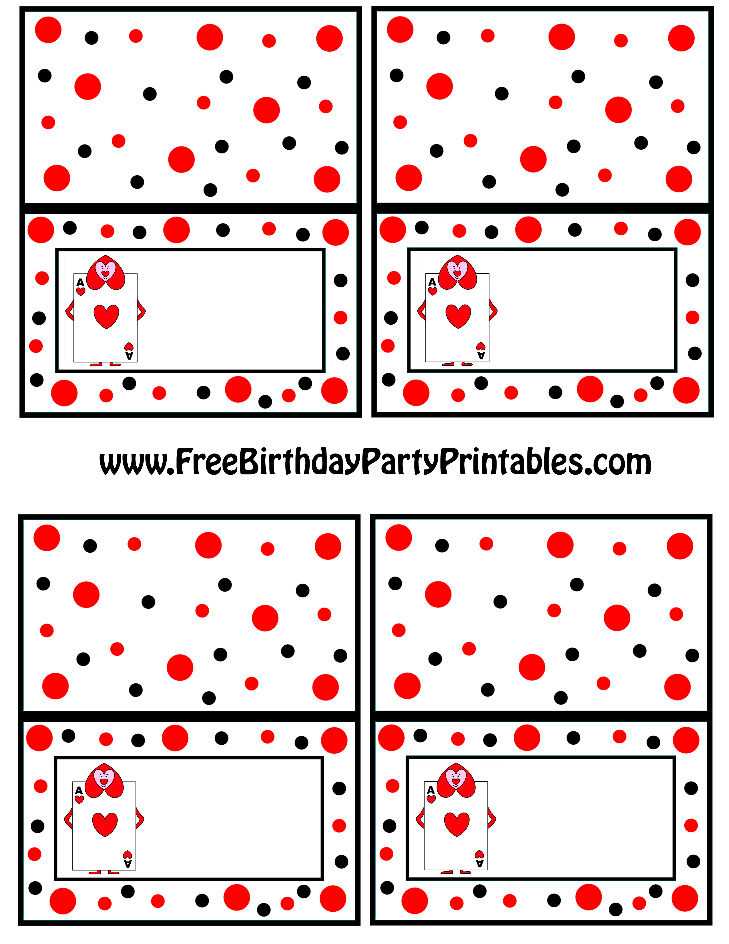 Alice In Wonderland Card Soldiers Printable Cutout - Free Printable Tent Cards Templates