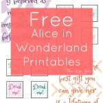 Alice In Wonderland Signs And Free Printables   Free Printable Signs