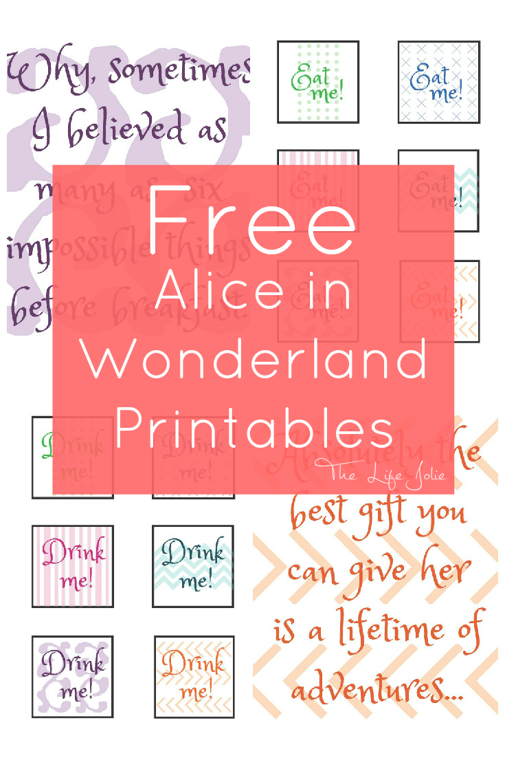 Alice In Wonderland Signs And Free Printables - Free Printable Signs