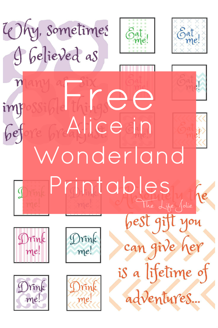 Alice In Wonderland Signs And Free Printables   The Life Jolie - Free Printable Party Signs