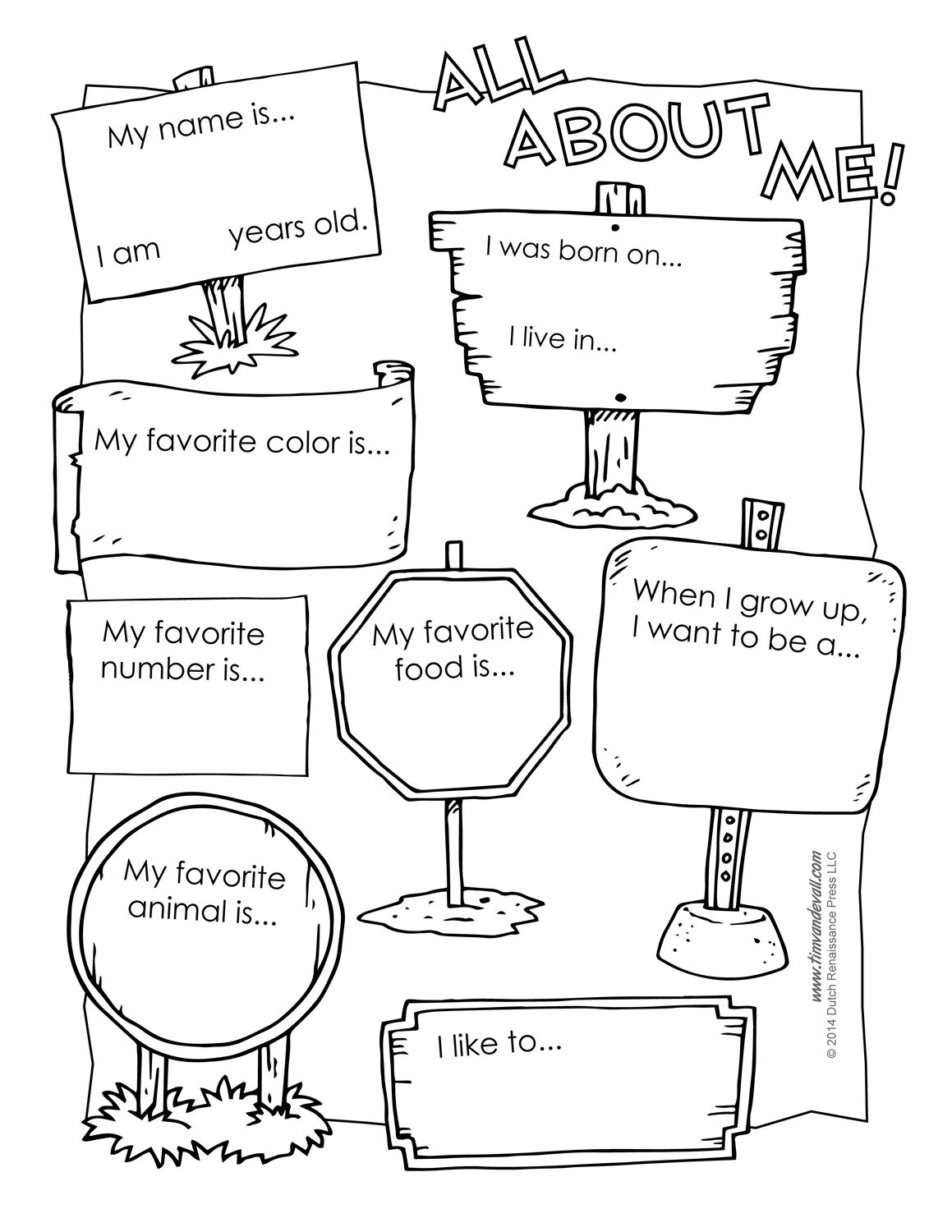 All About Me Preschool Template | 6 Best Images Of All About Me - Free Printable All About Me Worksheet