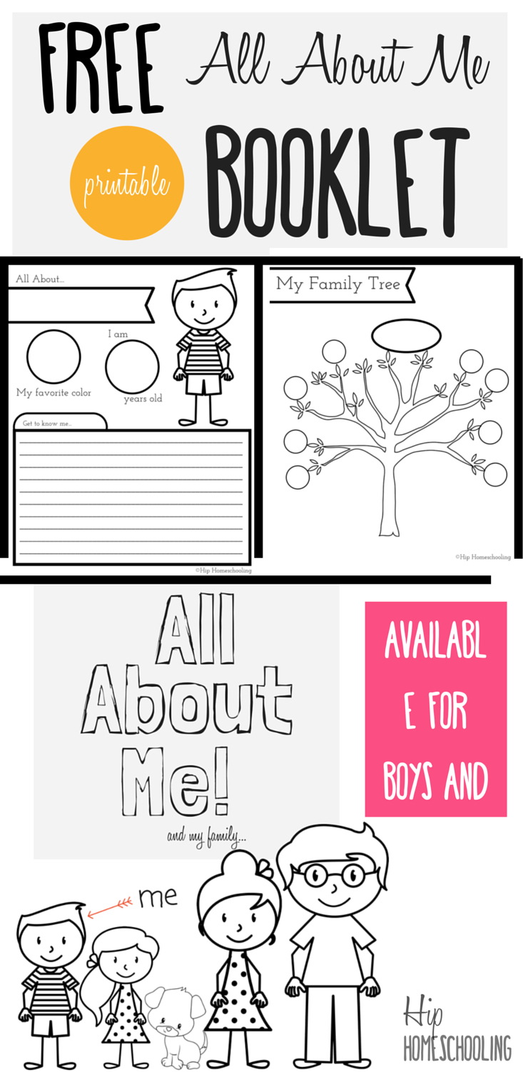 All About Me Worksheet: A Printable Book For Elementary Kids - Free Printable Story Books For Kindergarten