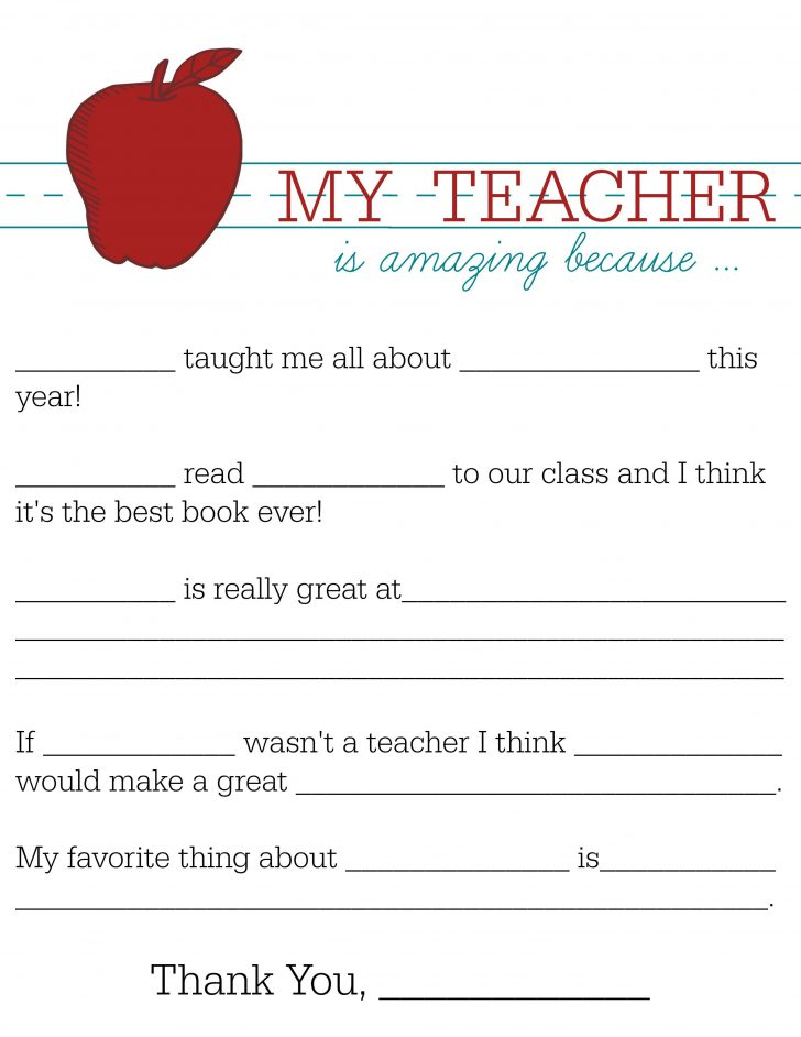 Free Printable Teacher Notes To Parents