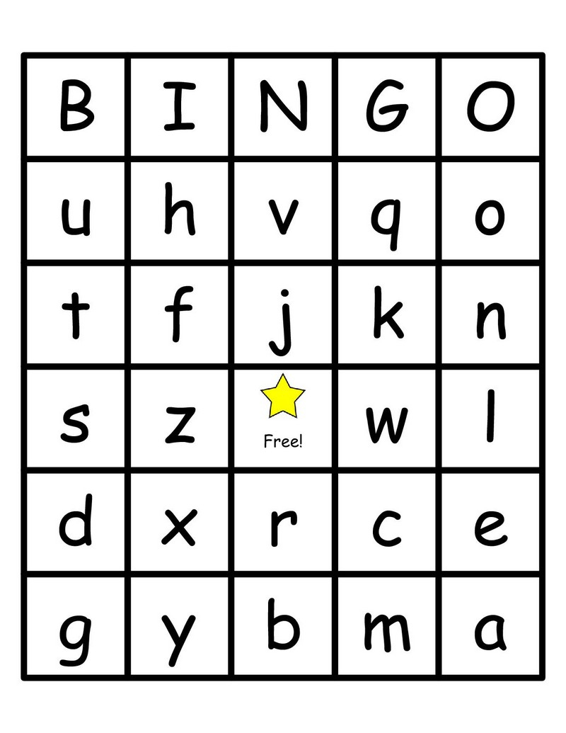Alphabet Bingo Printable Cards - Photos Alphabet Collections - Free Printable Alphabet Bingo Cards