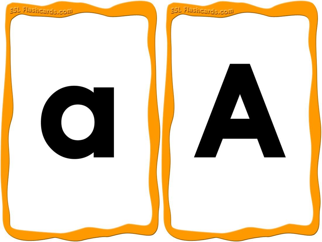 Alphabet Cards - 52 Free Printable Flashcards - Free Printable Alphabet Flash Cards