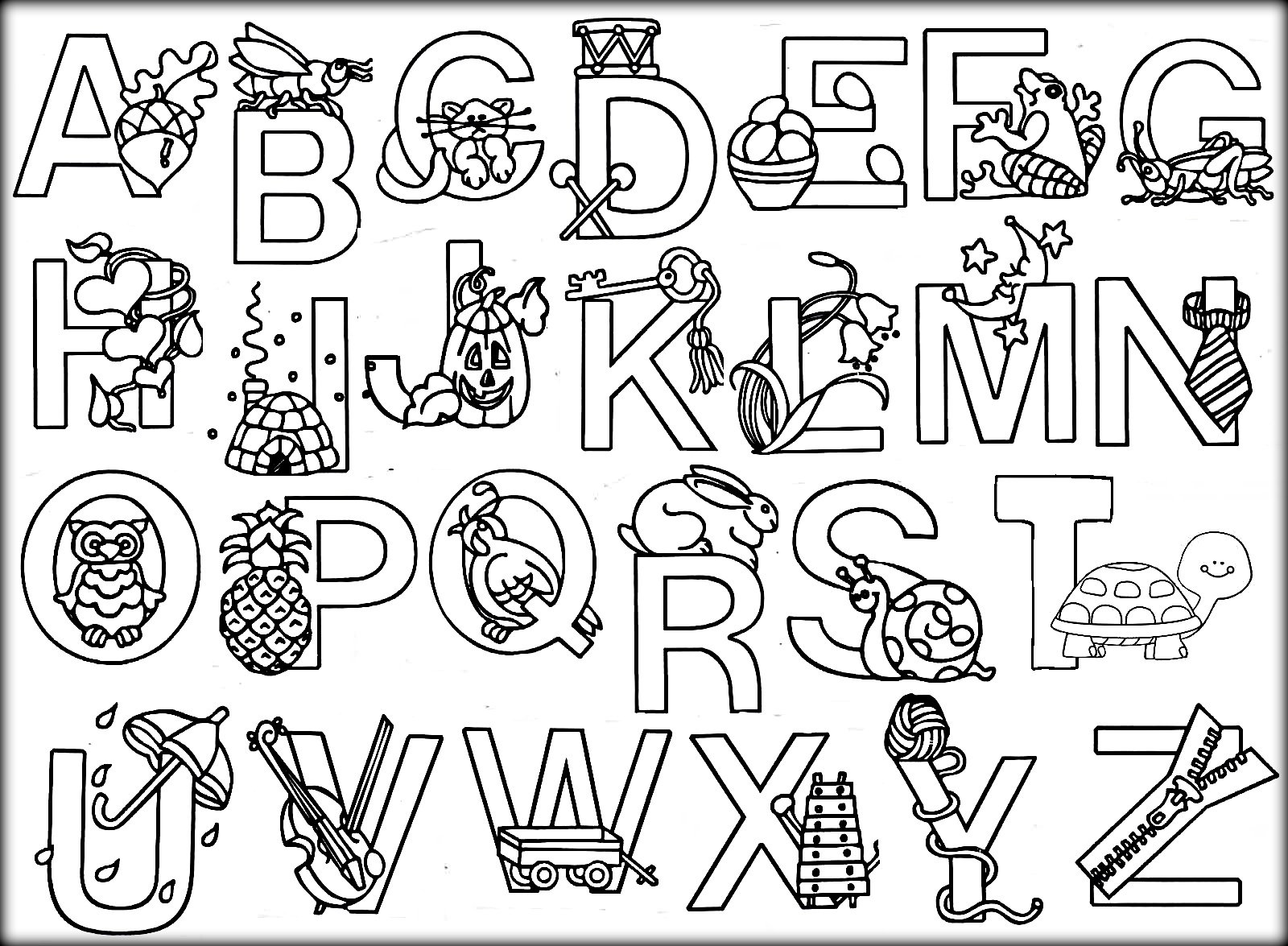 Alphabet Colouring Page #22784 - Free Printable Alphabet Coloring Pages