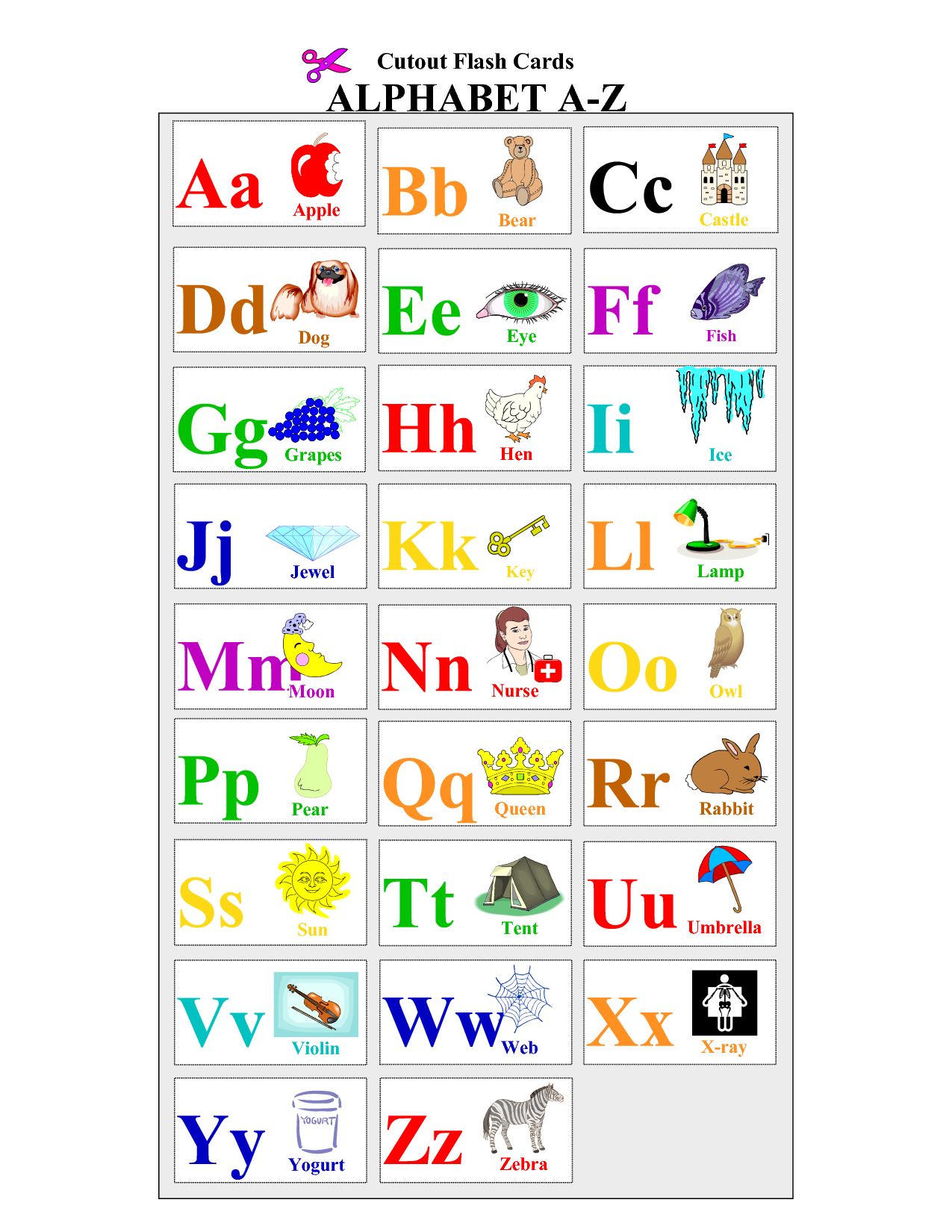 Alphabet-Flash-Cards-To-Print - Coloring Pages For Adults,coloring - Free Printable Abc Flashcards With Pictures