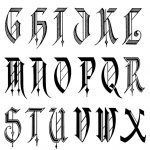 Alphabet Fonts | Free Old English Letters Fonts Alphabet Calligraphy   Free Printable Old English Letters