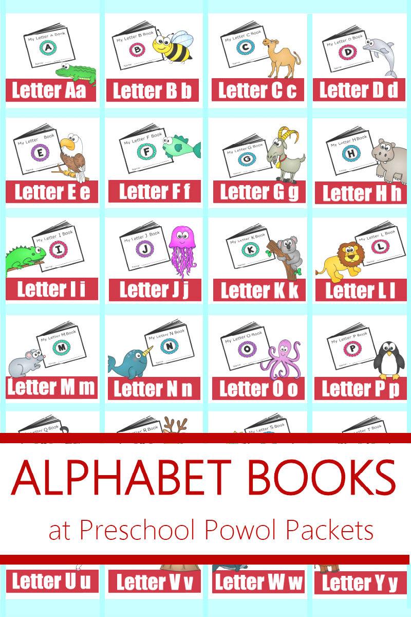 Alphabet! Free Printable Mini Books | Preschool Powol Packets - Free Printable Mini Books