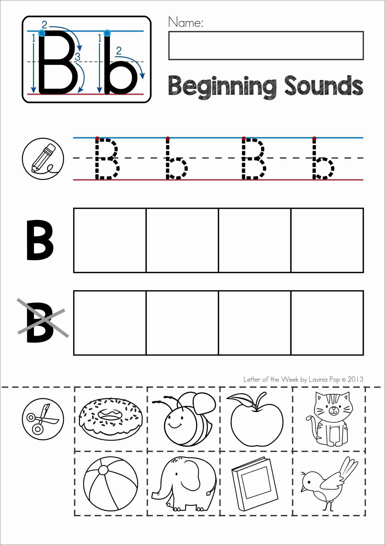 Alphabet Phonics Letter Of The Week B | Alphabet Activities - Free Printable Kindergarten Worksheets Cut And Paste