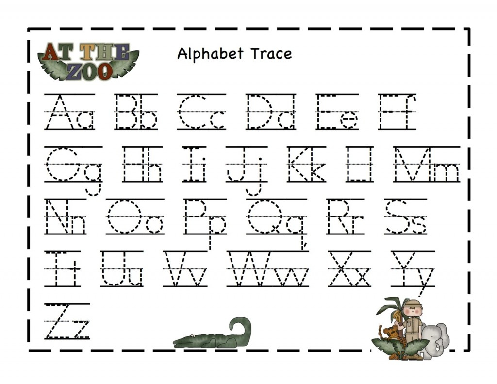 Alphabet Tracer Pages | Kiddo Shelter - Free Printable Preschool Name Tracer Pages