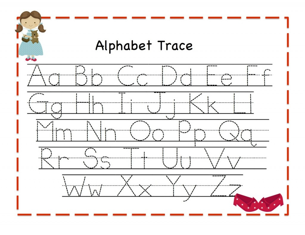 Alphabet Tracing | Kiddo Shelter - Free Printable Alphabet Letters Upper And Lower Case