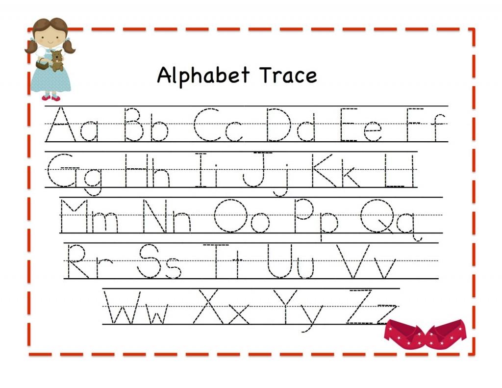 Alphabet Tracing   Kiddo Shelter - Free Printable Alphabet Tracing Worksheets For Kindergarten