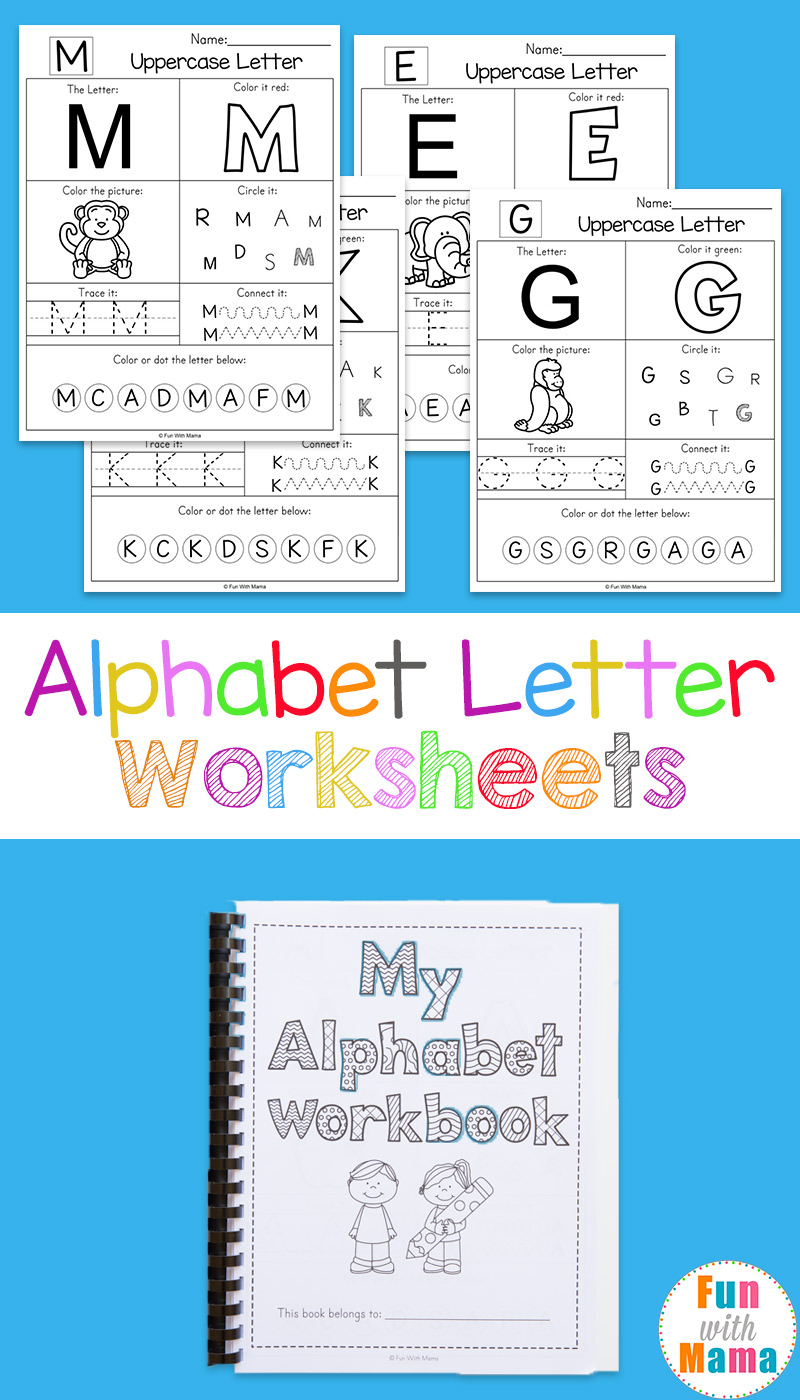 Alphabet Worksheets - Fun With Mama - Free Printable Abc Worksheets