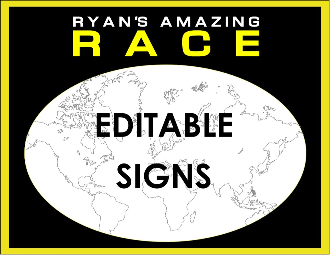 Amazing Race Party Supplies And Invitations! - Free Printable Amazing Race Invitations