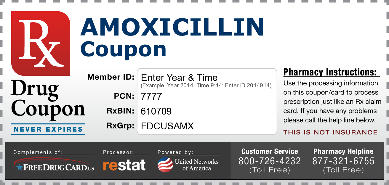 Amoxicillin Coupon - Free! No Registration Required! Www - Free Printable Coupons Without Downloading Or Registering