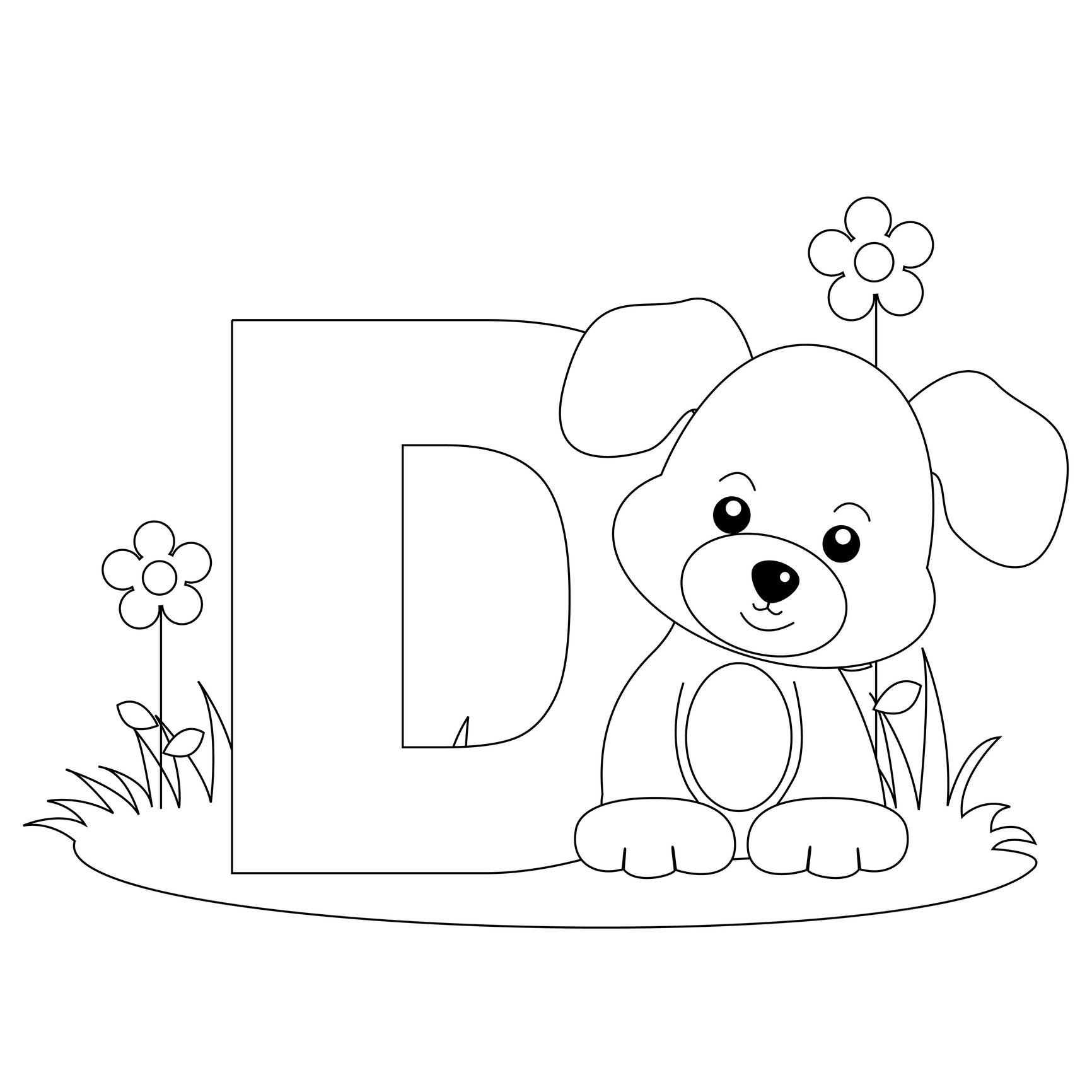 Animal Alphabet Letter D Is For Dog! Here's A Simple | Alphabet - Free Printable Animal Alphabet Letters