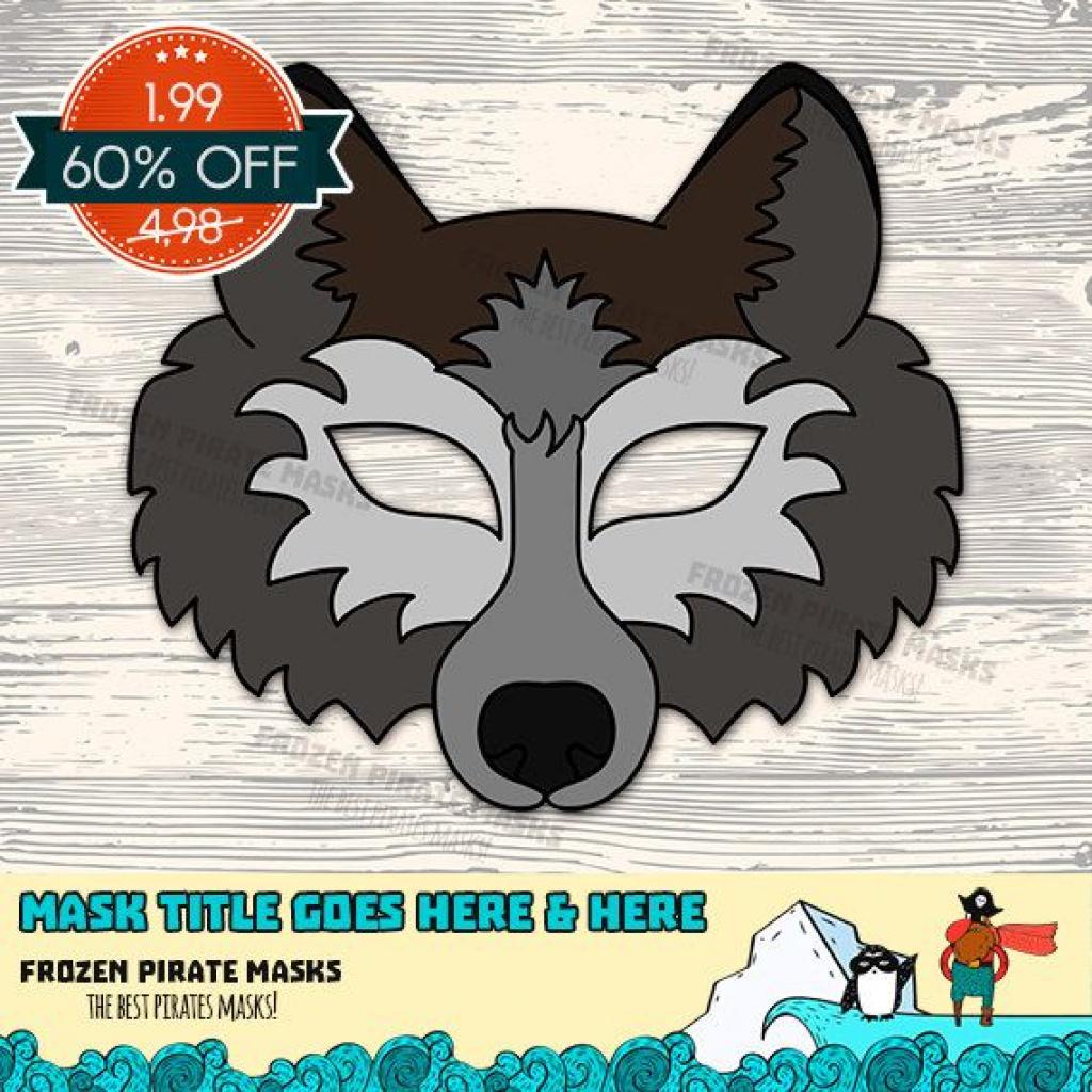 Animal Face Templates Fresh Wolf Mask Printable Wolf Costume Animal - Free Printable Wolf Mask