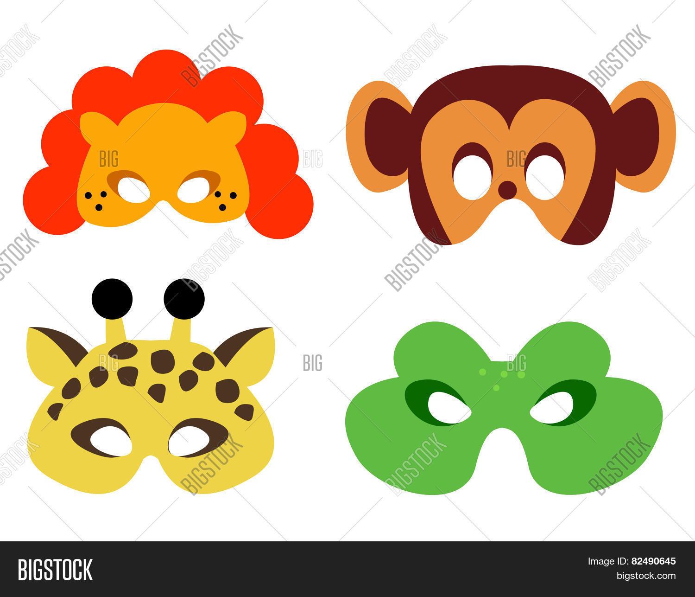 Animal Mask Printable Image & Photo (Free Trial)   Bigstock - Free Printable Lion Mask