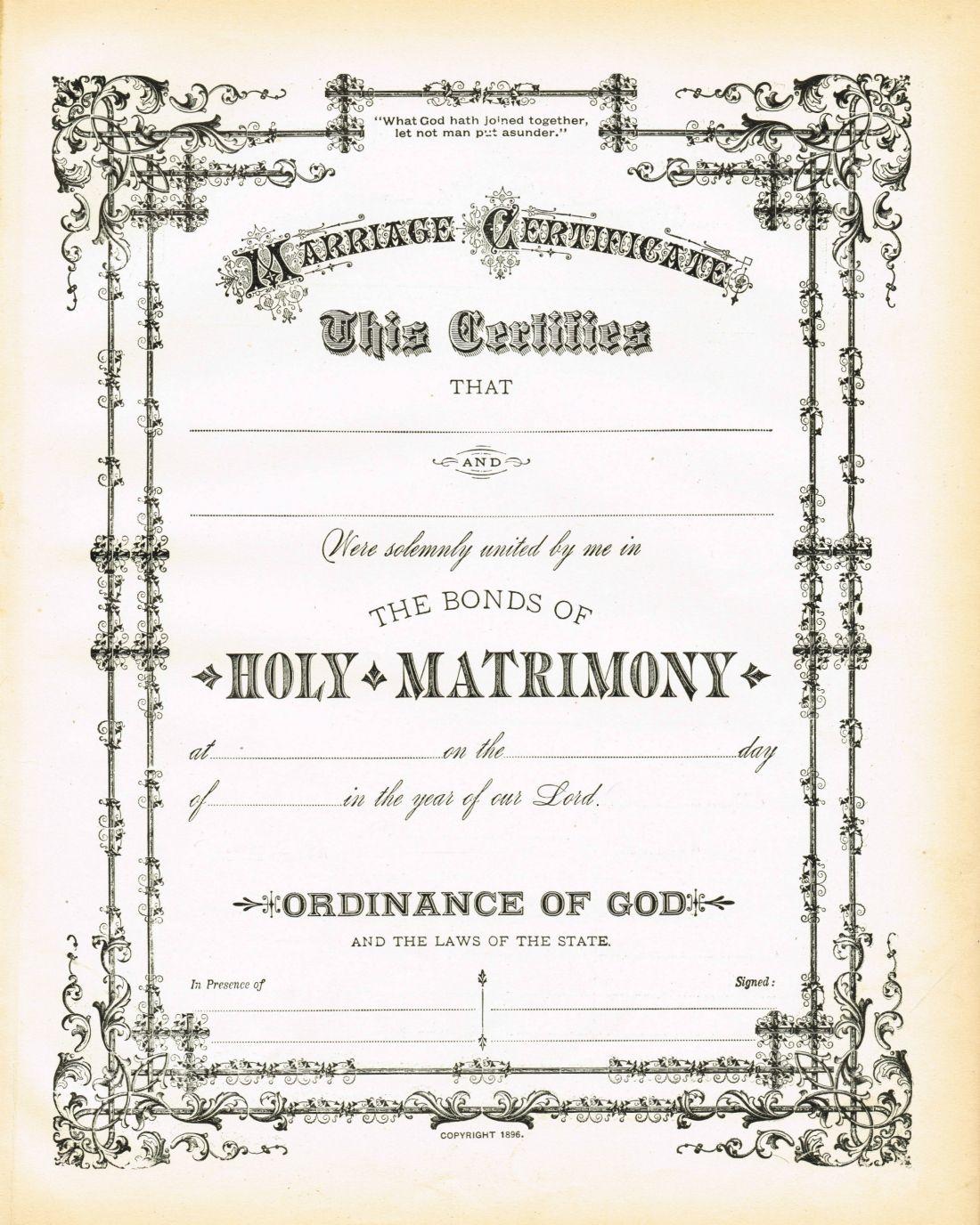 Antique Certificate Of Marriage Printable Via Knickoftime - Free Printable Wedding Certificates