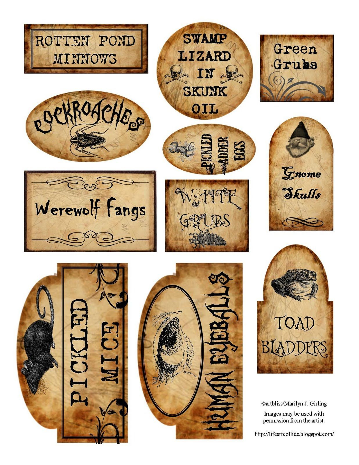 Apothecary Jar Labels For Download … | Holiday - Free Printable Potion Labels