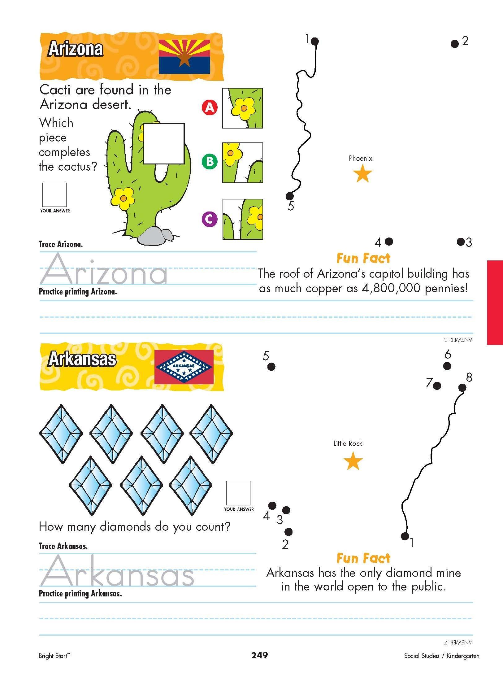 Arizona And Arkansas! From Shore To Shore, Begin Your - Free Printable Arkansas History Worksheets